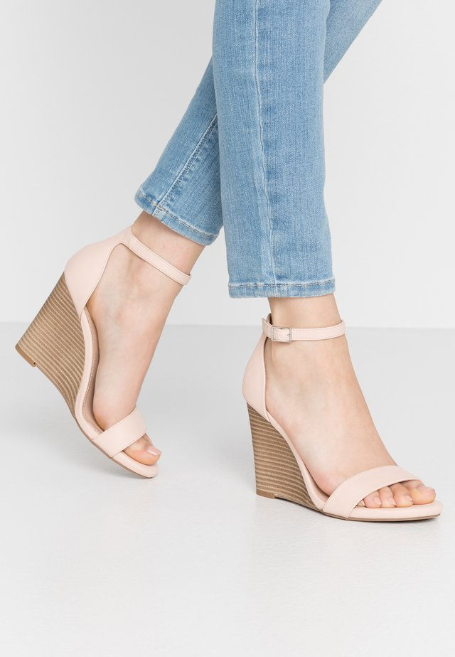 WILLOW - High heeled sandals - blush paris