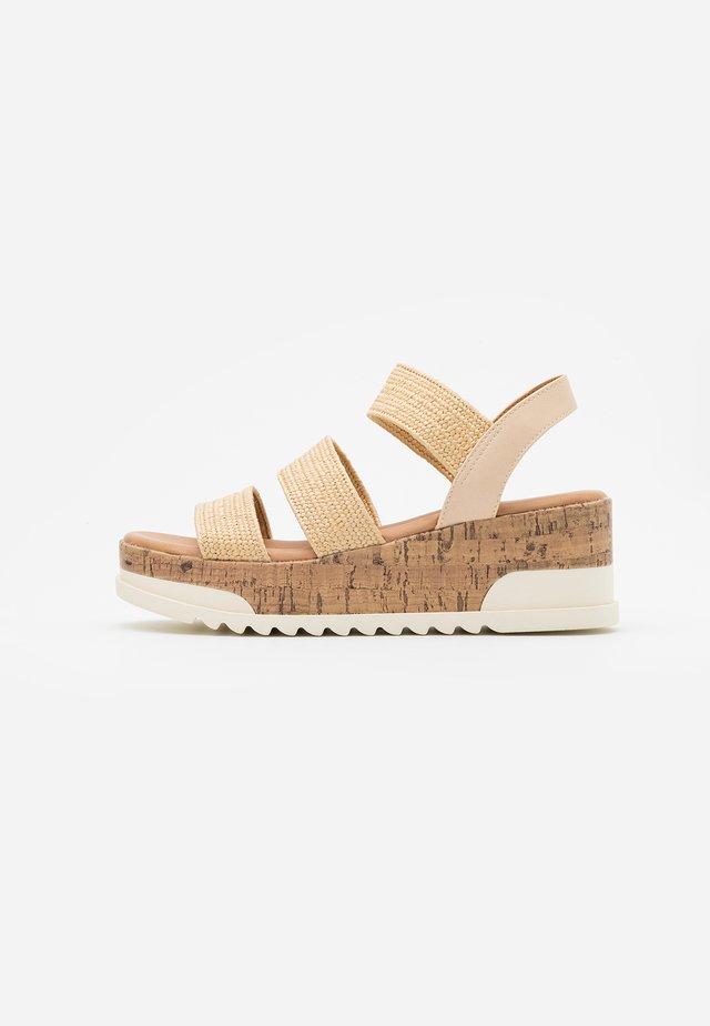 BRENNA - Platform sandals - beige