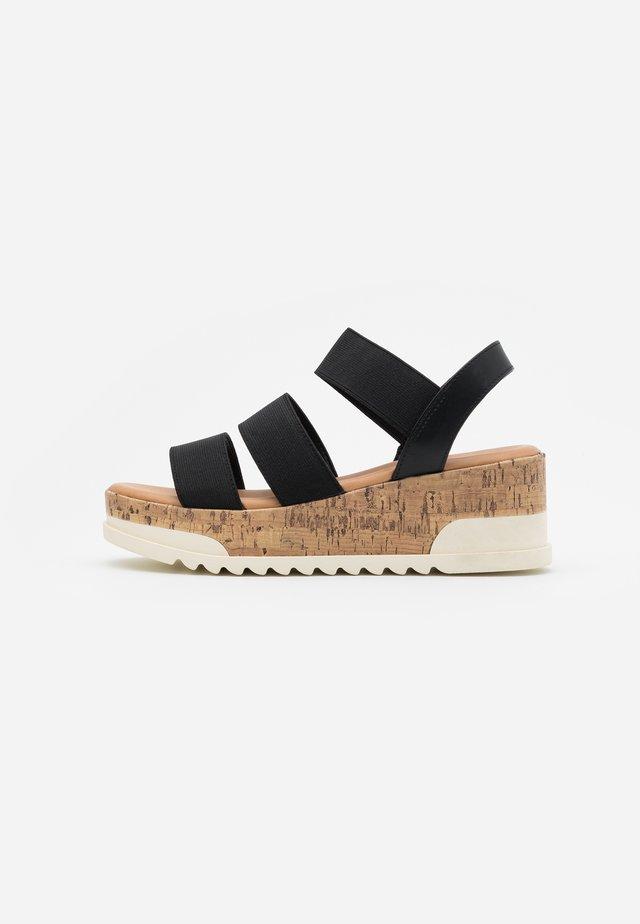 BRENNA - Platform sandals - black paris