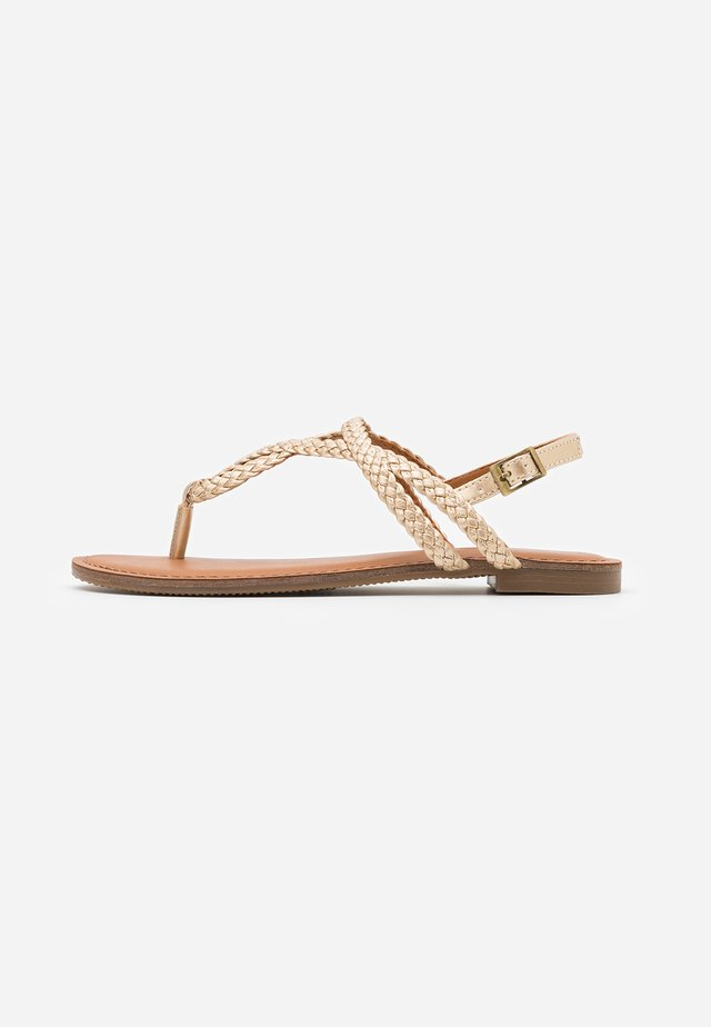 ARIAA - T-bar sandals - gold