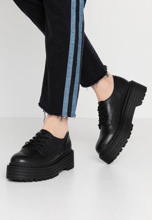 MINTY - Šněrovací boty - black