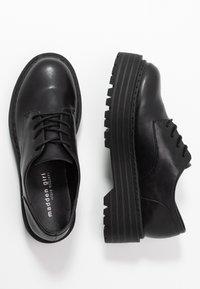 Madden Girl - MINTY - Šněrovací boty - black - 3