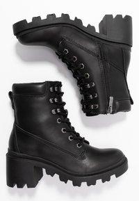 Madden Girl - DILLIAN - Šněrovací kotníkové boty - black paris - 3
