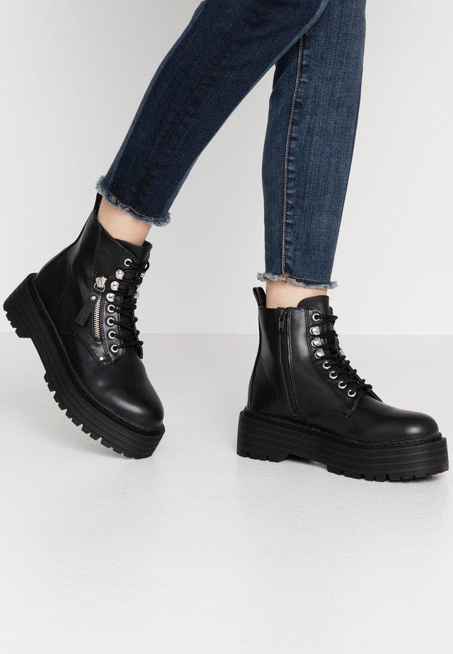 MASH - Platform ankle boots - black paris