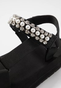 maje - FRANKIE STRASS - Platform sandals - noir - 2