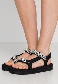 maje - FRANKIE STRASS - Platform sandals - noir - 0
