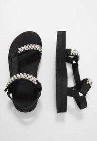 maje - FRANKIE STRASS - Platform sandals - noir - 3
