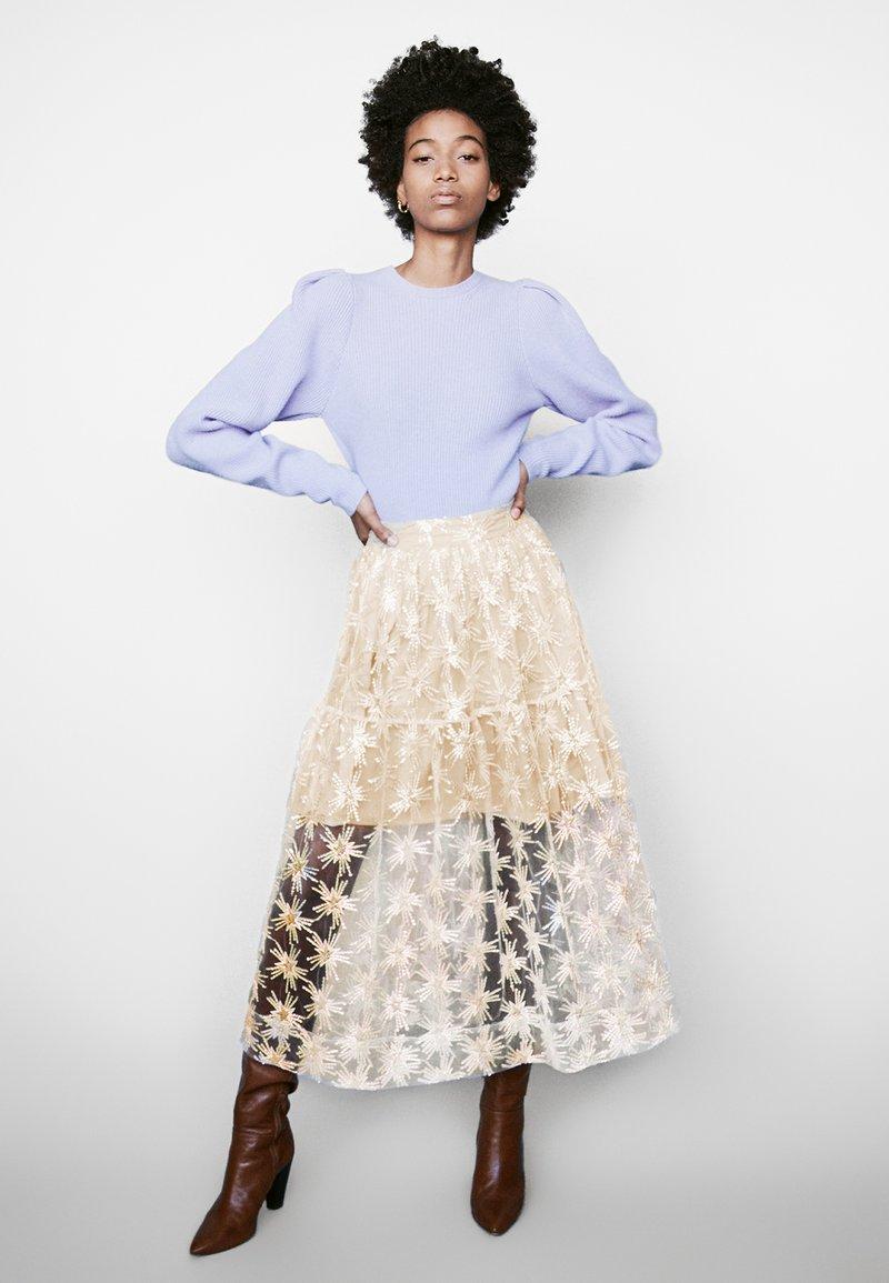 maje - JIZIO - A-line skirt - beige