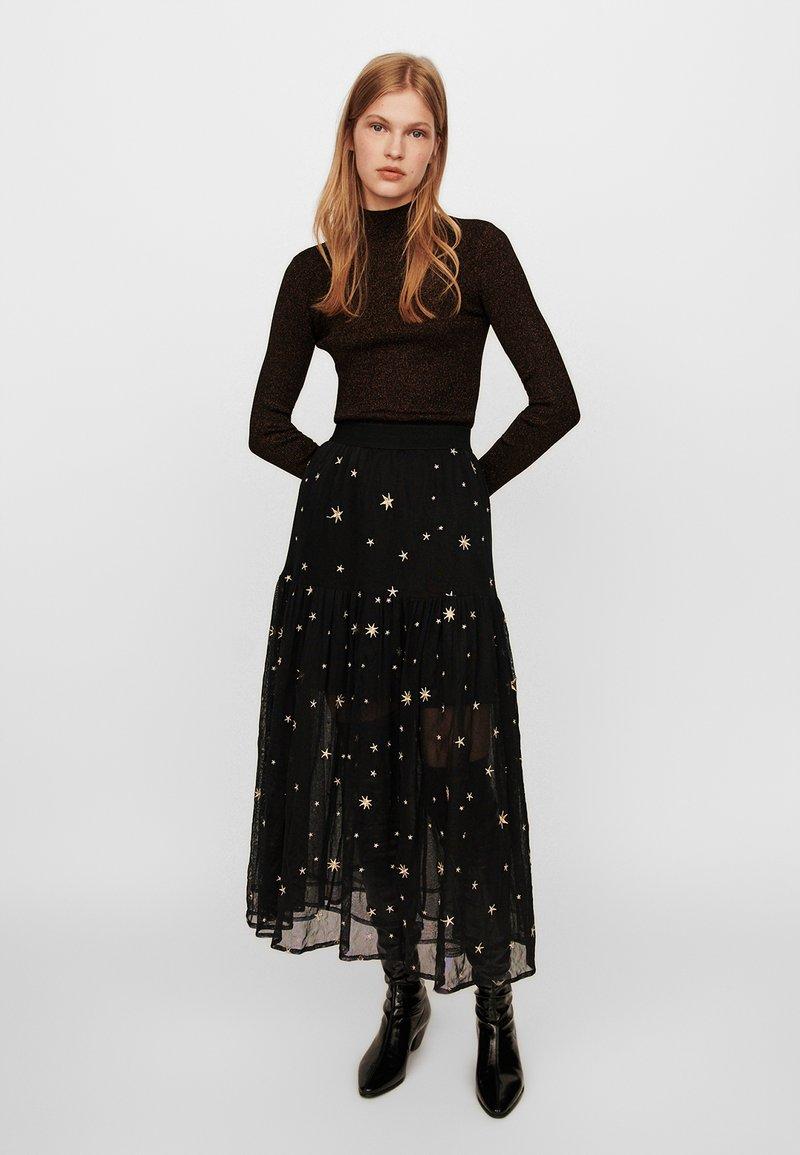 maje - JISTAR - Maxi skirt - noir