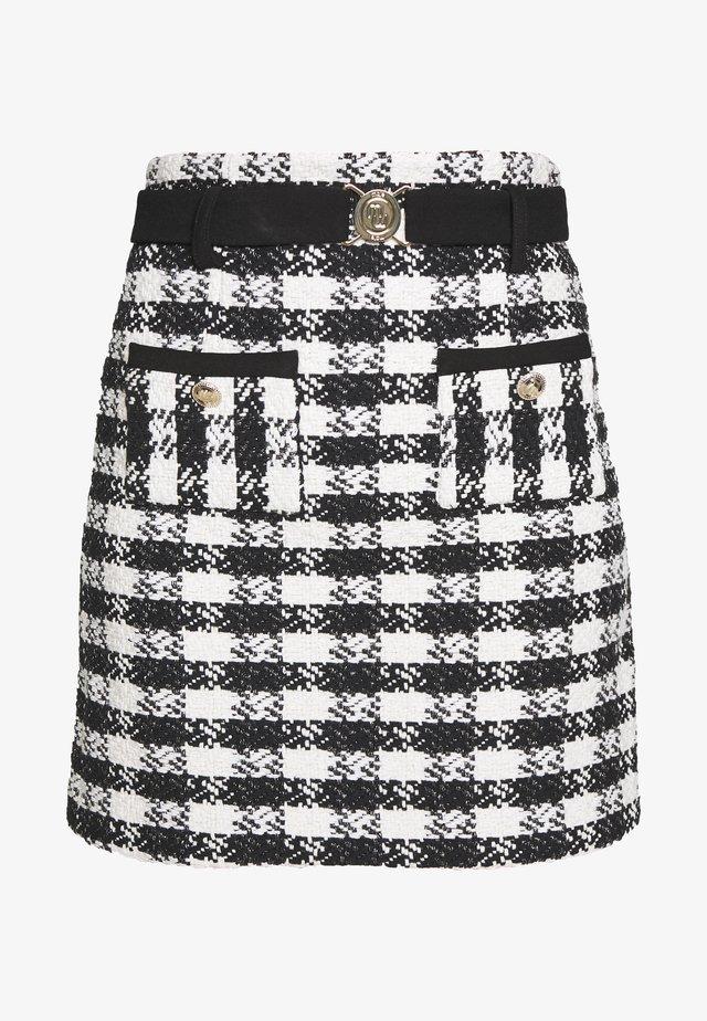 JICKY - Mini skirts  - noir/blanc