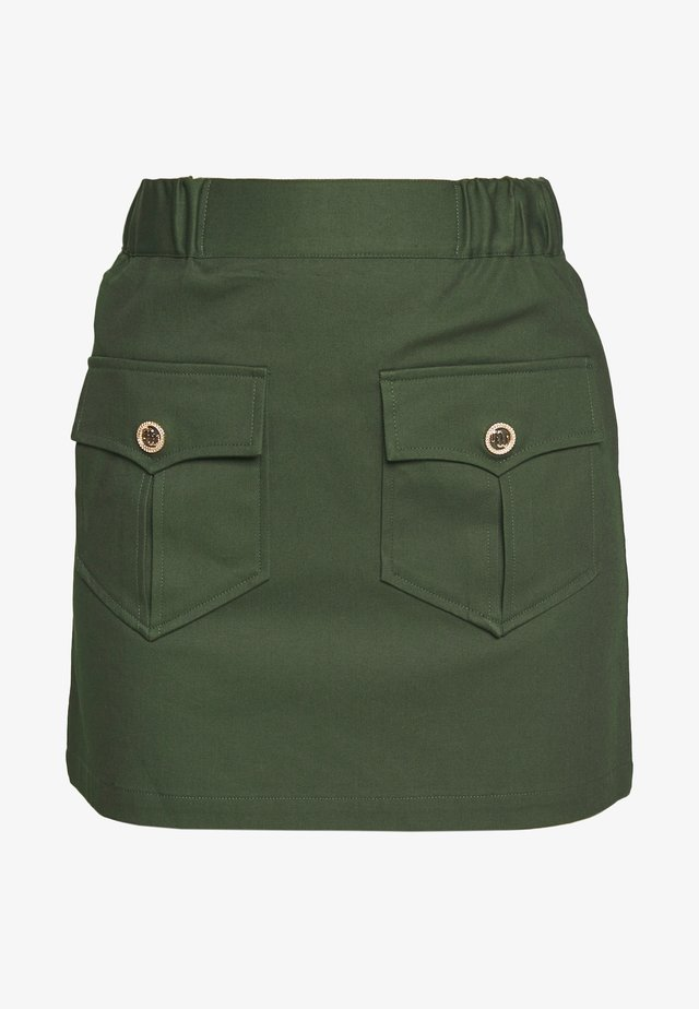 JESNA - Mini skirt - kaki fonce