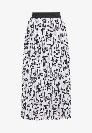 JEMO - A-snit nederdel/ A-formede nederdele - blanc/noir