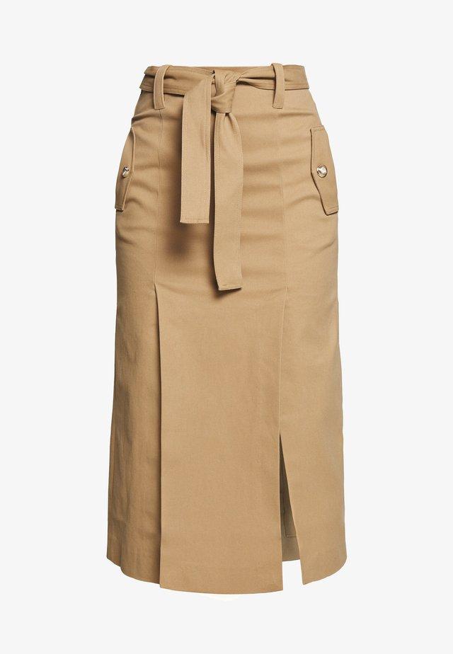 JUDE - A-line skirt - camel