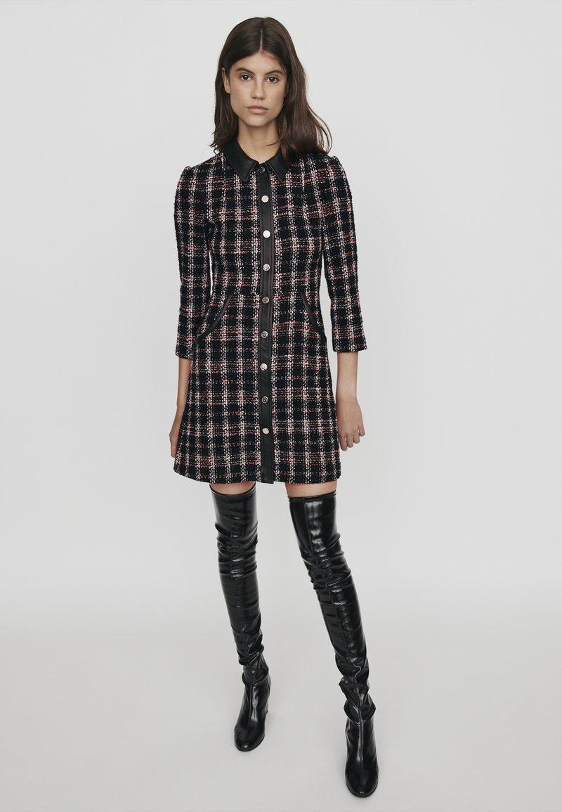 maje - Skjortklänning - noir