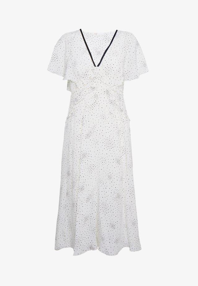 RACKY - Długa sukienka - ecru/noir