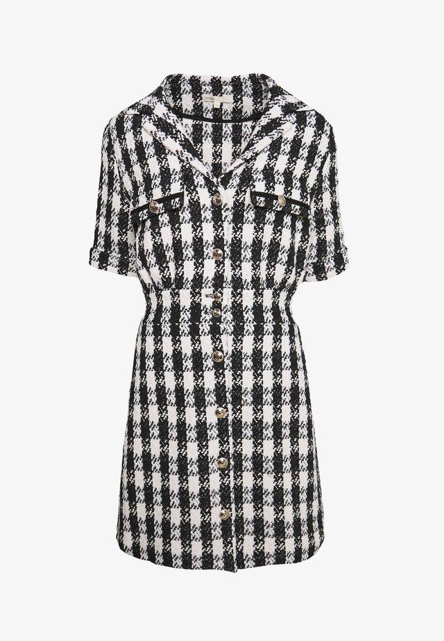 RICKY - Shirt dress - noir/blanc