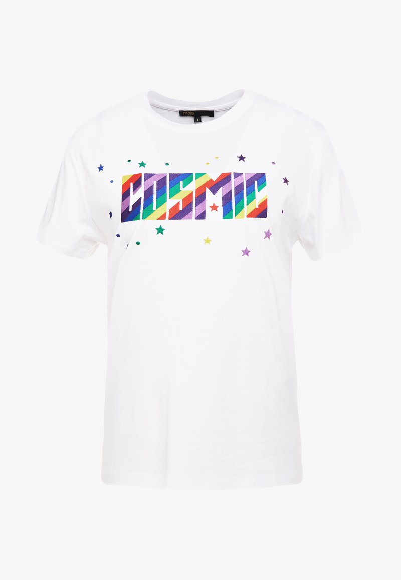 maje - TERENCE - T-Shirt print - blanc