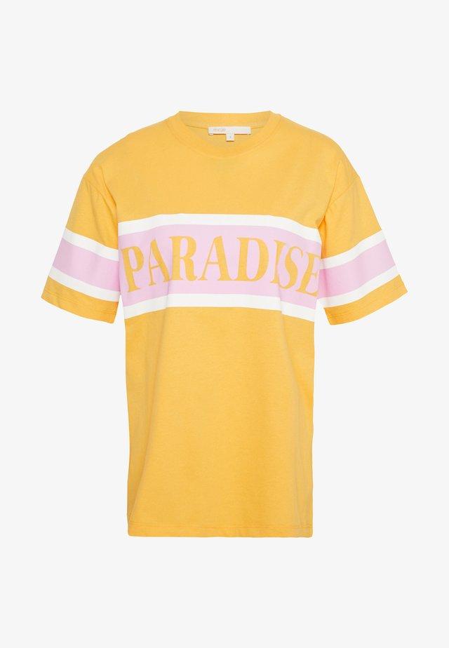 TARA - T-shirt z nadrukiem - jaune
