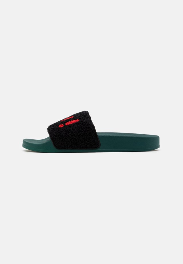 Mules - black/red