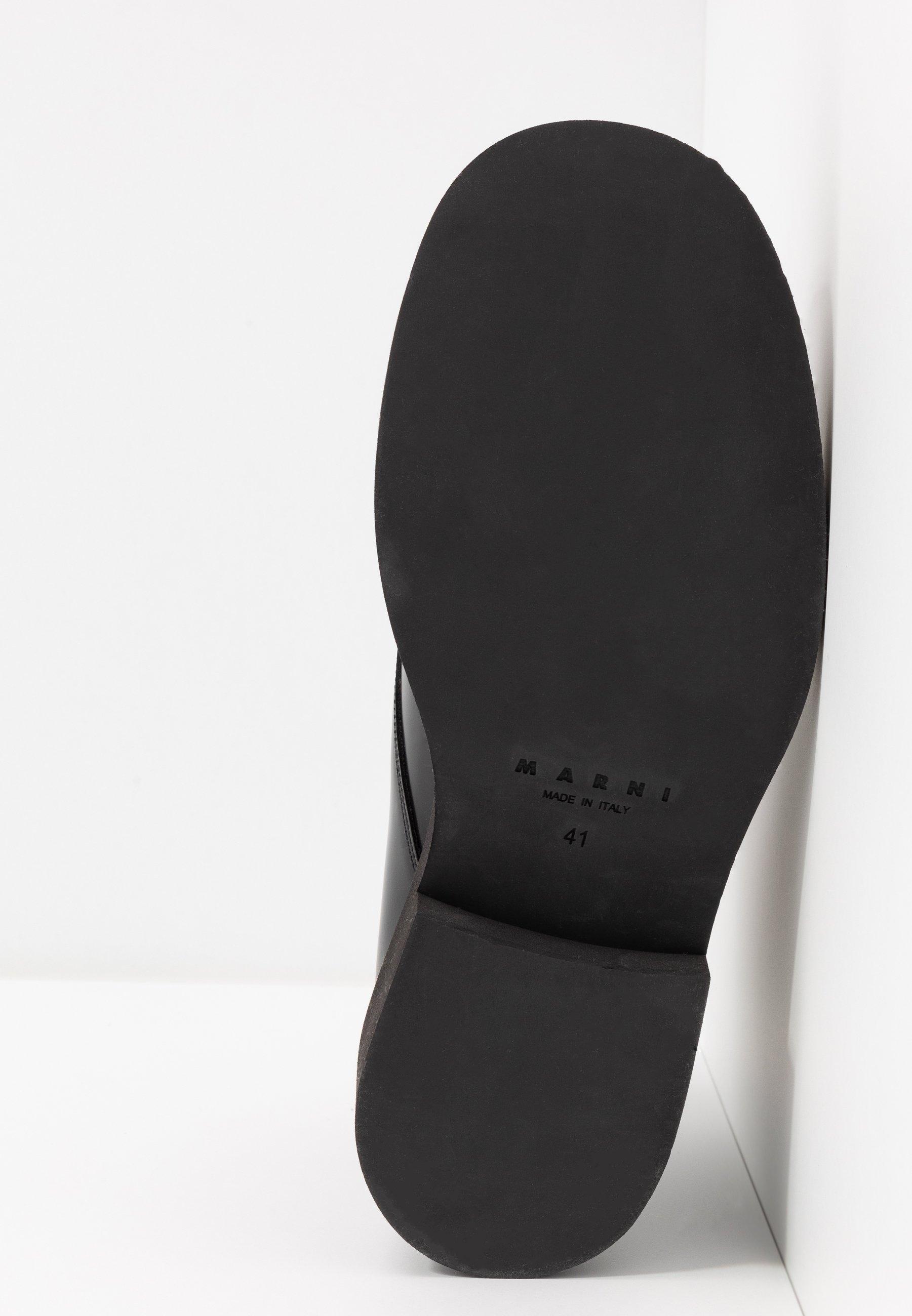 Marni Botki sznurowane - black