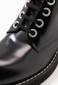 Marni - Botki sznurowane - black - 5