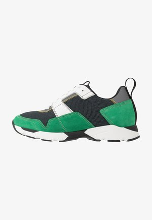 Sneakers laag - platino/spring green