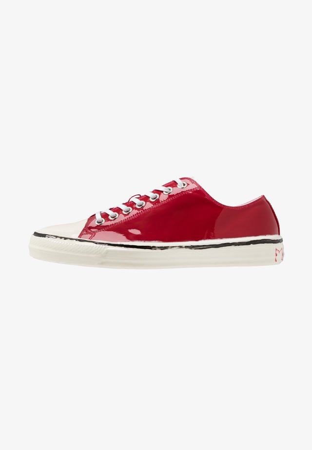 Sneakers laag - indian red/white