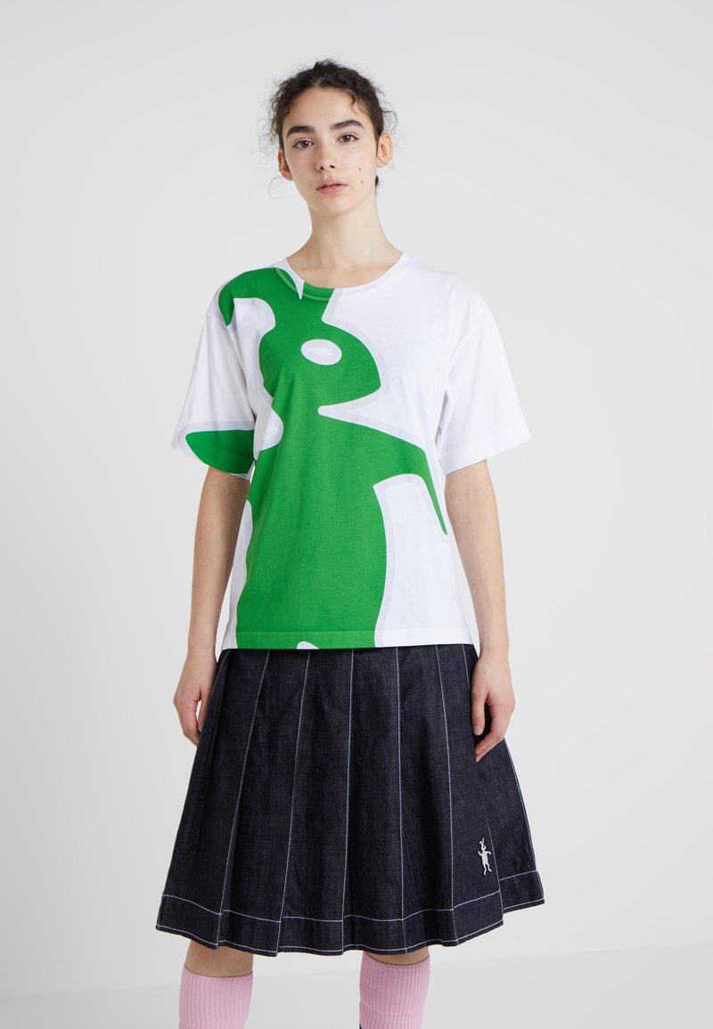 Marni - THJEL - T-Shirt print - white/green