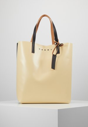 Shopping bag - beige/black