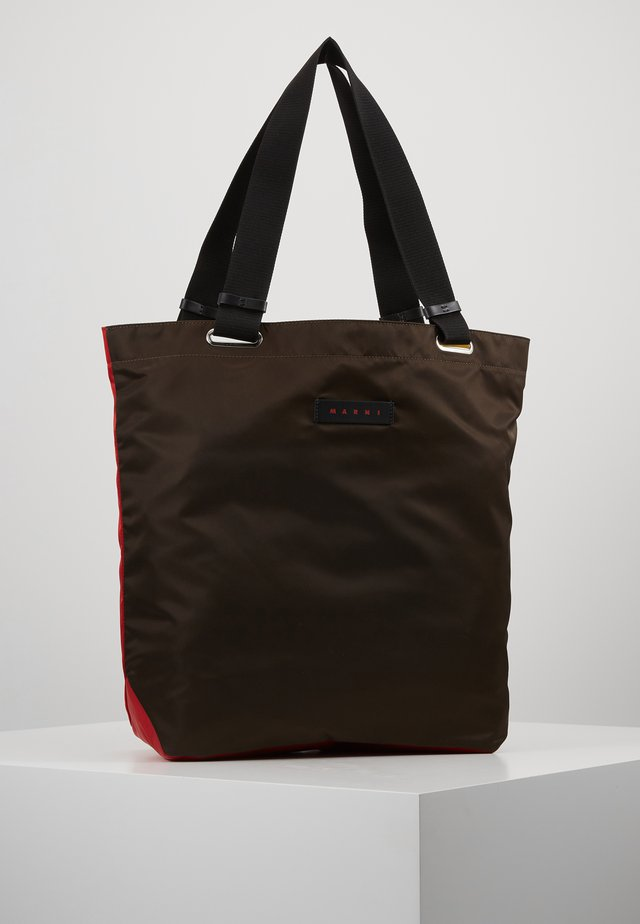 Shopper - chesnut/red/cork