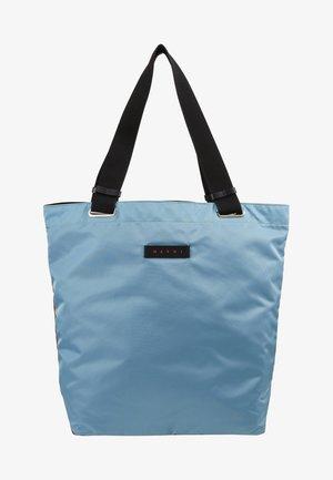Shopping bag - lake/rust/black