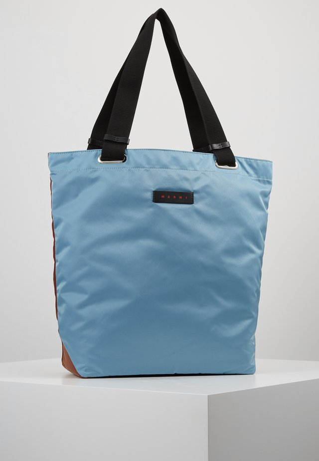 Shopping bags - lake/rust/black