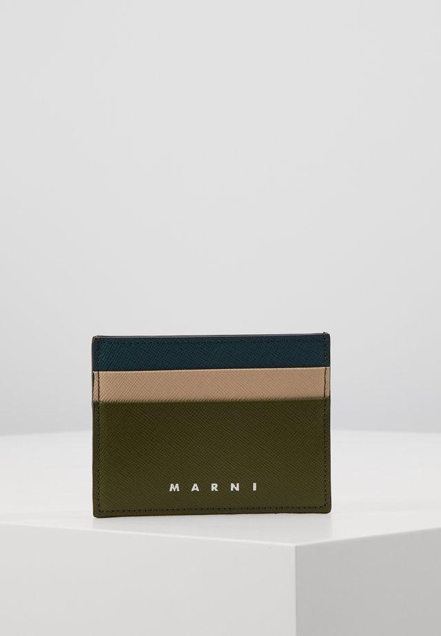 Business card holder - olive