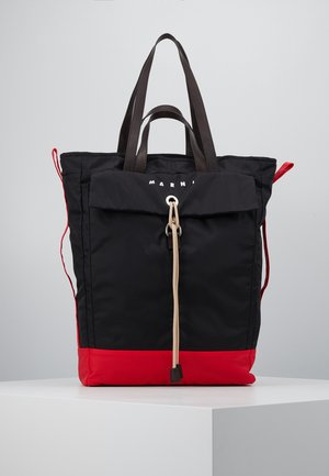 Shopping Bag - black/red/brown