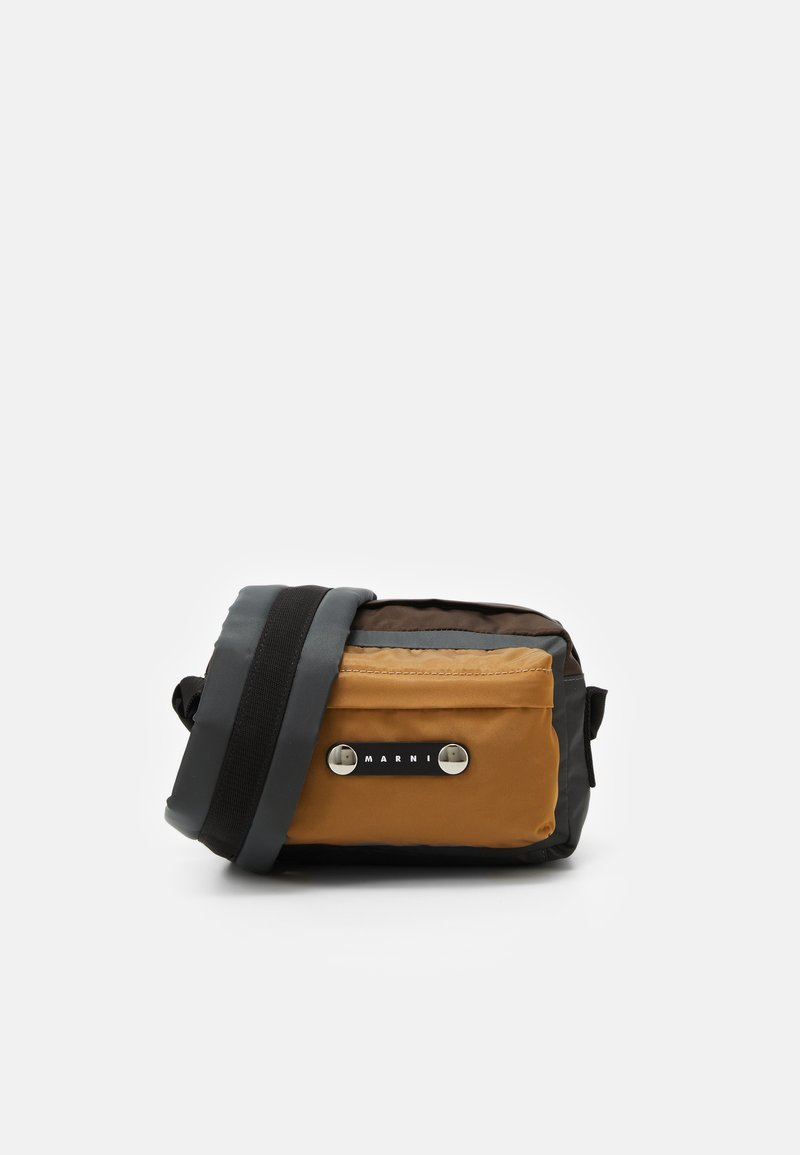 Marni - Across body bag - anthracite/chestnut/dune