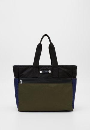Tote bag - black/ultramarine/forest green