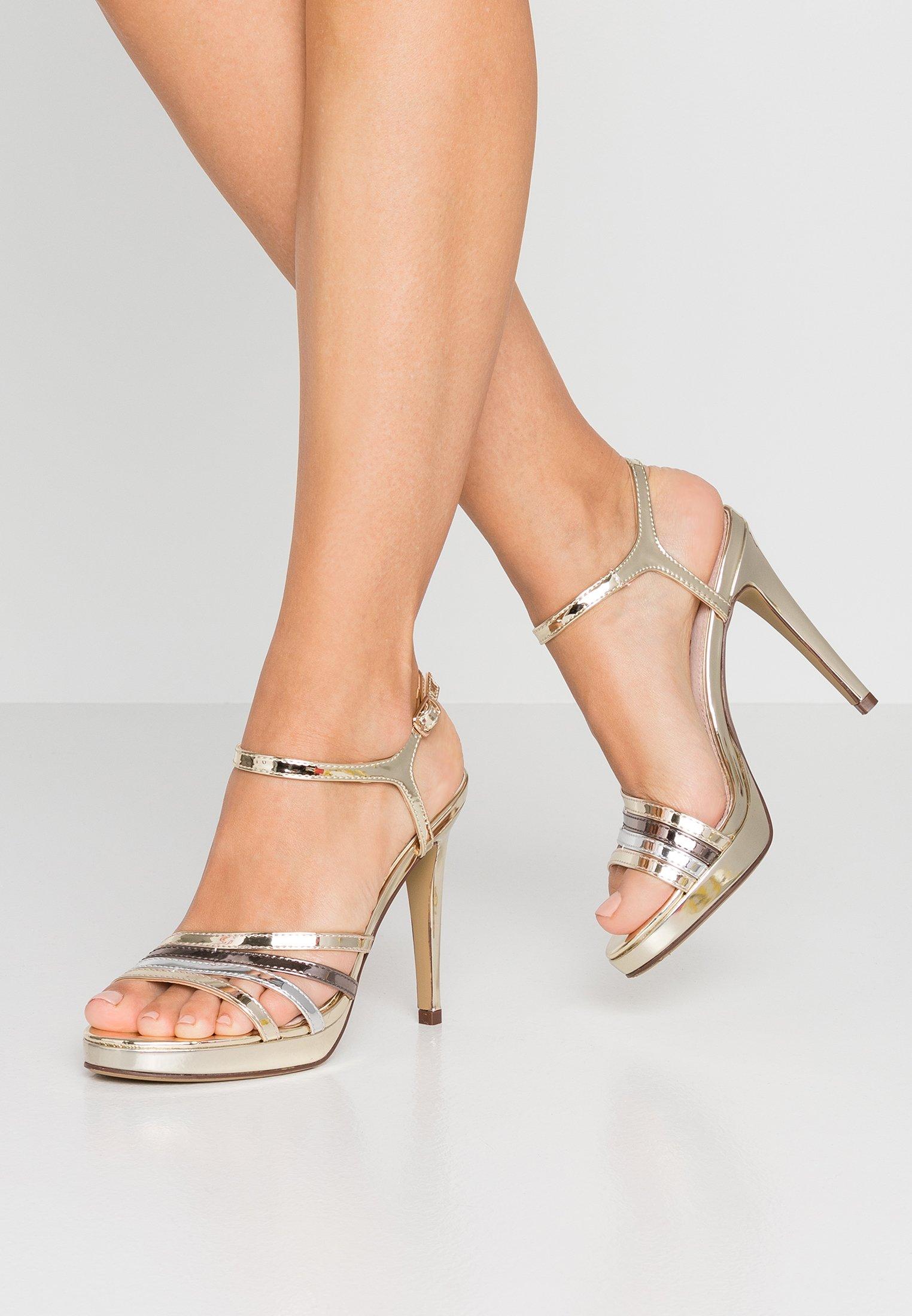 Sandaletter espejo champagneplataplomo
