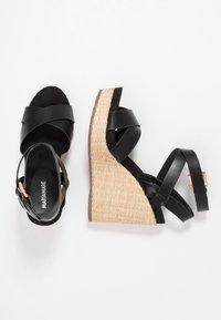Mariamare - Korolliset sandaalit - black - 3
