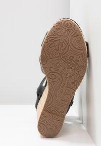 Mariamare - Korolliset sandaalit - black - 6