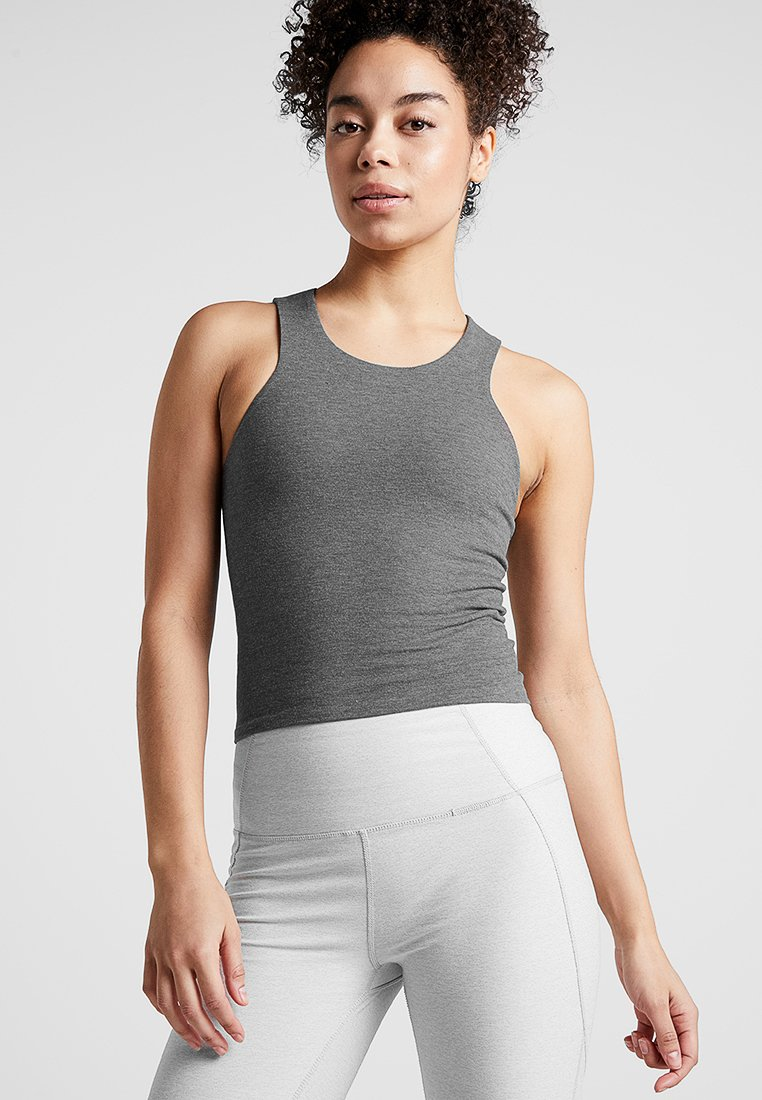 Manduka - EKO SOFT CROP - Top - heather charcoal