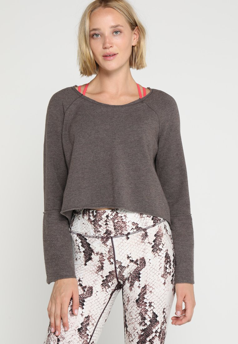 Manduka - RESOLUTION BELL SLEEVE - Sweater - mocha heather