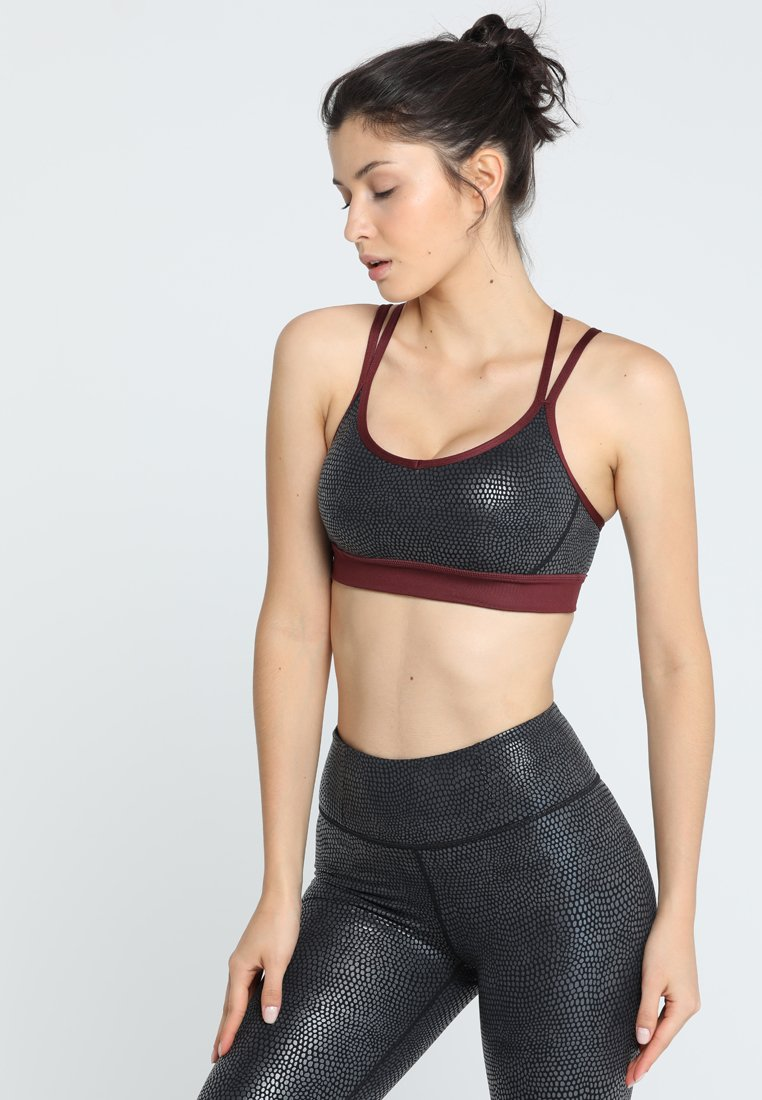 Manduka - CROSS STRAP BRA - Urheiluliivit - black pebble