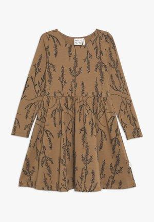 HEATHER DRESS - Jersey dress - dijon