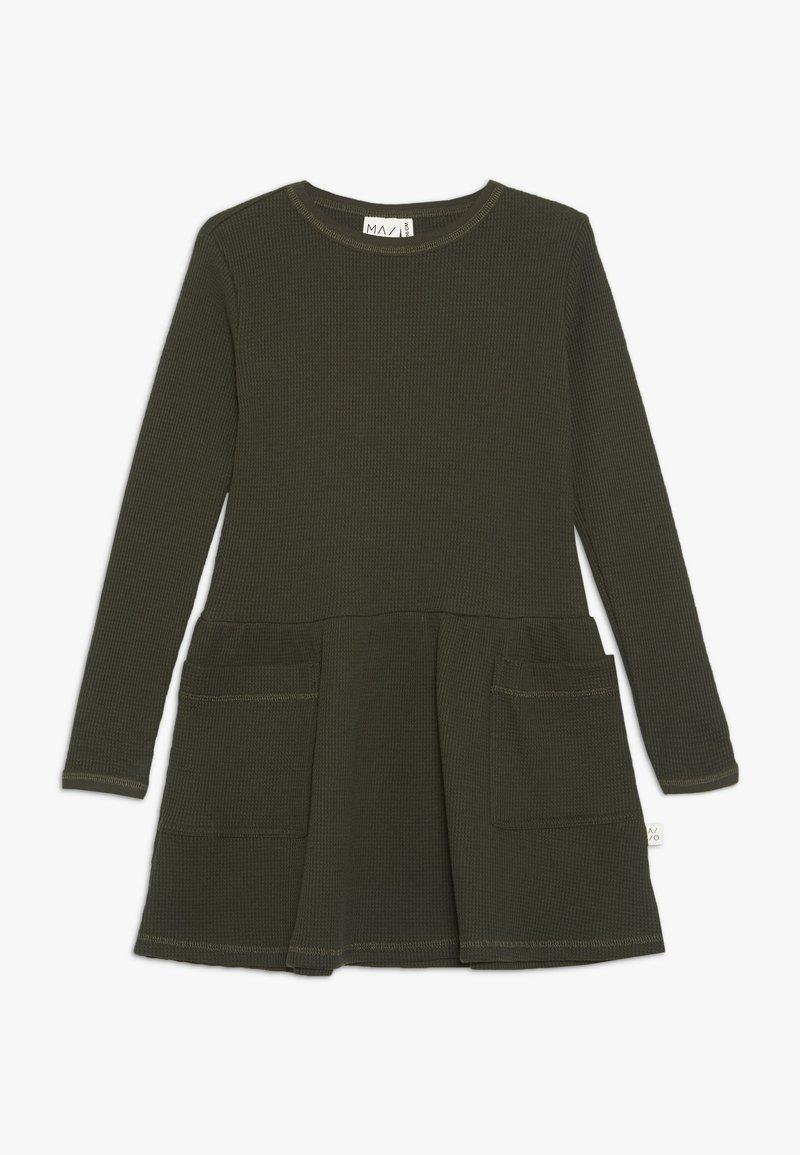 Mainio - WAFFLE DRESS - Sukienka z dżerseju - kombu green