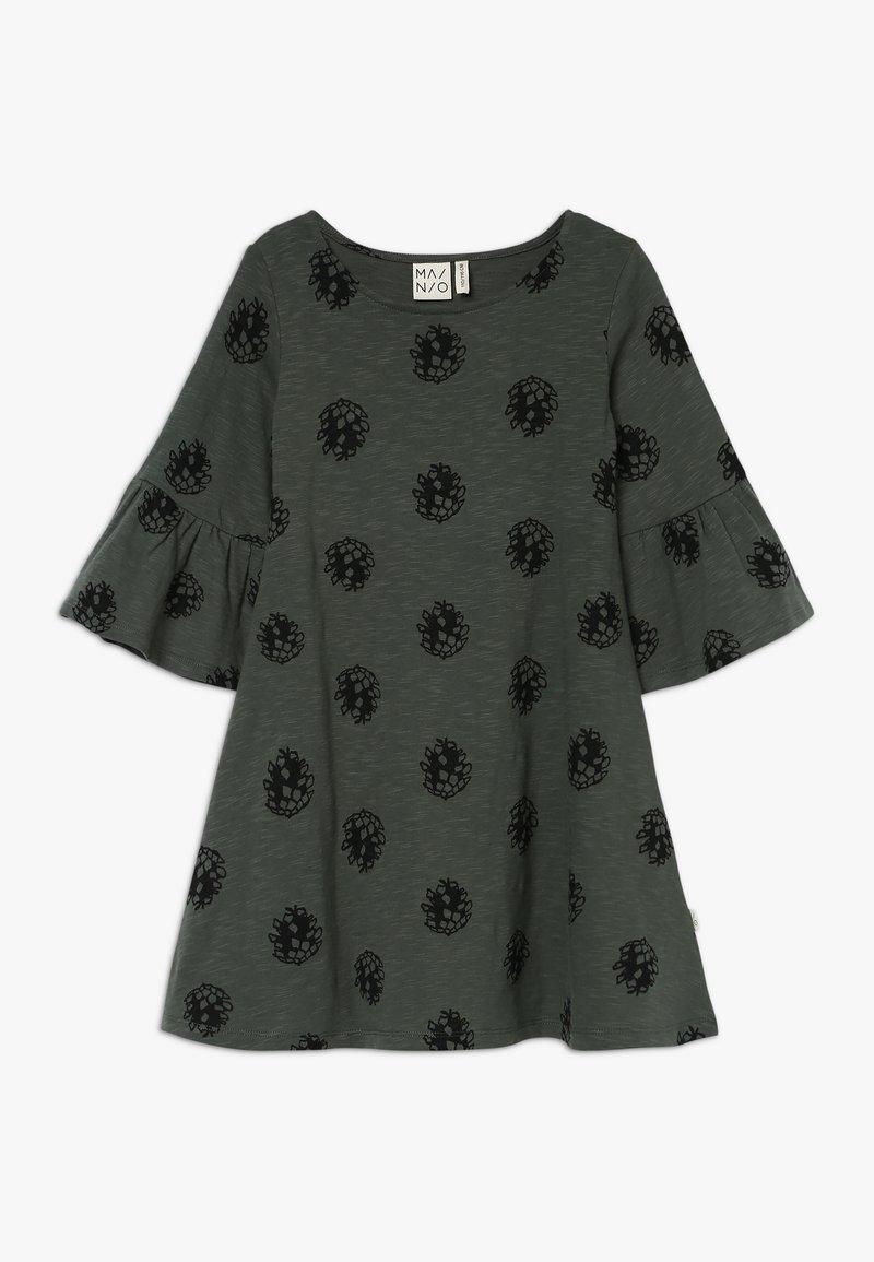Mainio - CONE DRESS - Jersey dress - duck green