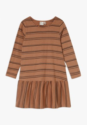 STRIPE DRESS  - Jersey dress - sandstorm