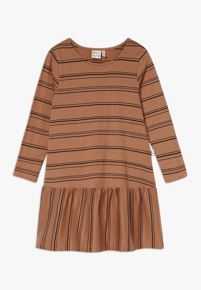 STRIPE DRESS  - Jerseyjurk - sandstorm