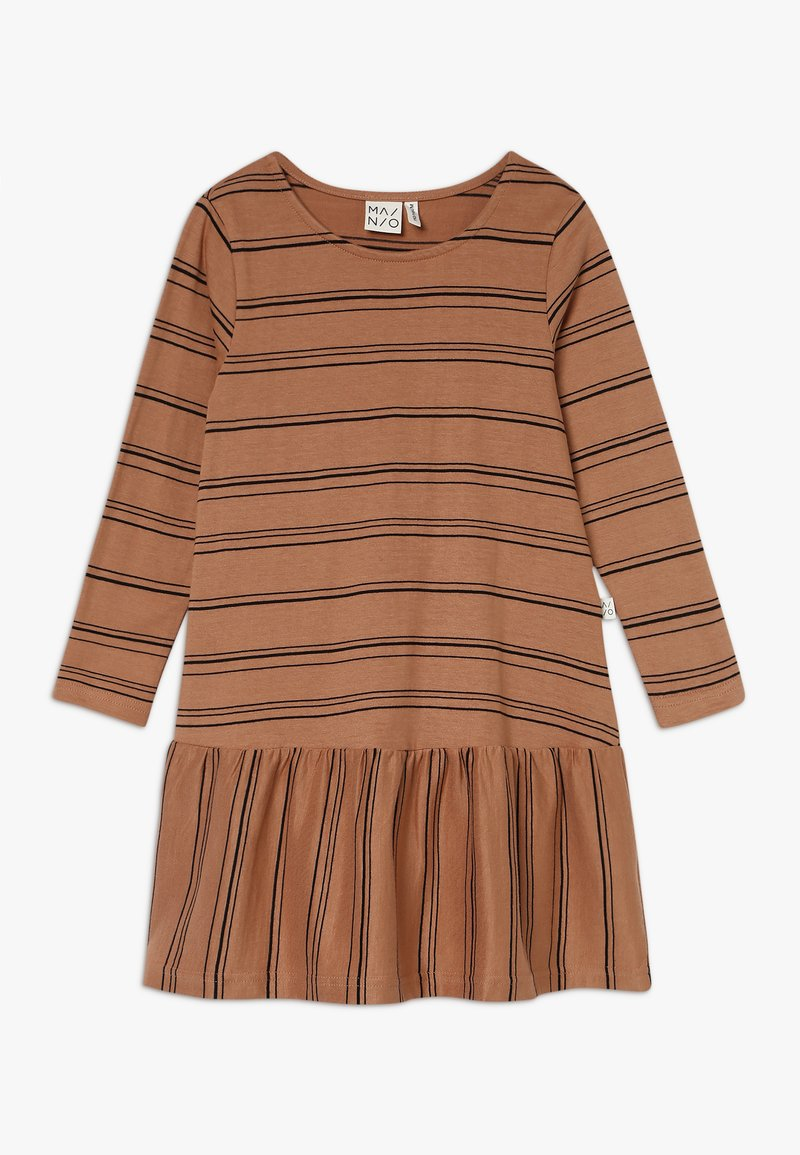 Mainio - STRIPE DRESS  - Jerseykjoler - sandstorm