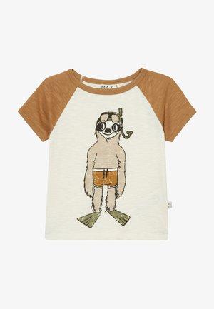 T-shirt print - bone brown