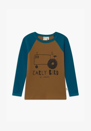 UNISEX - Long sleeved top - dull golds/moroccan blue